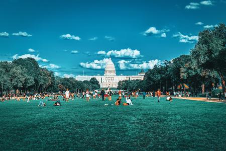 Washington, DC, USA -September 10, 2017 : United States Capitol, Capitol Building,home of the United States Congress, legislative branch of the U.S. federal government. Editorial