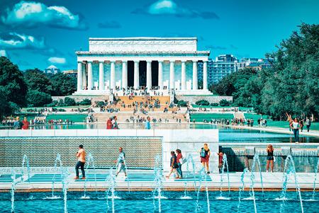 Washington, DC, USA - September 10,2017 : Lincoln Memorial U.S. National Register of Historic Places,U.S. National Memorial. Editorial