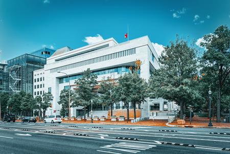 Washington, DC, USA - September 10,2017 : Urban cityscape of Washington, Embassy of Canada in the USA,501 Pennsylvania Ave NW.