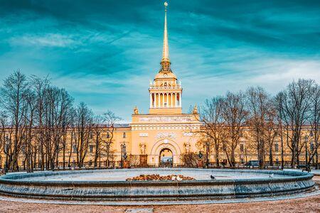 Admiralty building near Senate Square. Saint Petersburg. Russia.