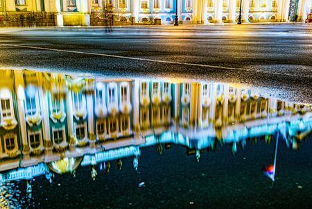 Winter Palace and Hermitage Museum.  Saint Petersburg. Russia. Редакционное