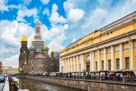 Saint Petersburg, Russia - November 03, 2019: Gribobedovs Canal. Cathedral of the Savior on Spilled Blood. Saint Petersburg. Russia.