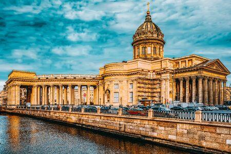 Saint Petersburg, Russia - November 06, 2019: Gribobedovs Canal. Kazan Temple. Saint Petersburg.