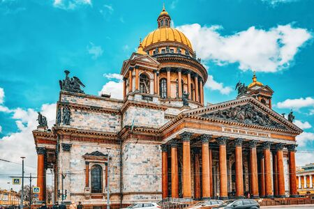 Saint Petersburg, Russia - November 05, 2019: Saint Isaac's Cathedral- greatest architectural creation. Saint Petersburg. Russia.