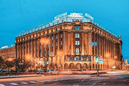 Saint Petersburg, Russia - November 06, 2019: Hotel Astoria near St. Isaac's Square. Saint Petersburg. Russia.