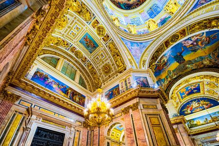 Saint Petersburg, Russia - November 07, 2019: Inside Saint Isaac's Cathedral- greatest architectural creation. Saint Petersburg.
