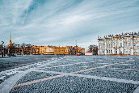 Saint Petersburg, Russia - November 06, 2019: Winter Palace and Hermitage Museum.  Saint Petersburg. Russia.