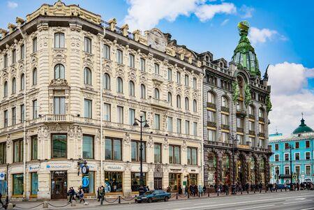 San Pietroburgo, Russia - 05 novembre 2019: Famosa casa a San Pietroburgo-Singer House. Russia.