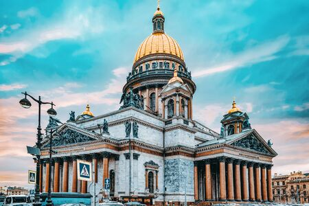 Saint Isaacs Cathedral- greatest architectural creation. Saint Petersburg. Russia.