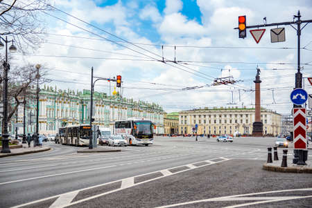 Saint Petersburg, Russia - November 05, 2019: Winter Palace and Hermitage Museum.  Saint Petersburg. Russia. Редакционное