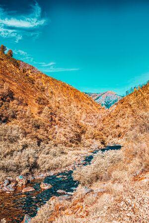 Magnificent national American natural park - Yosemite. California. USA. Stock Photo