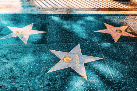 Los Angelos, California, USA - September 05, 2018: Hollywood Walk of Fame in Hollywood Boulevard. Diana Ross.