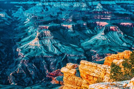 Amazing natural geological formation - Grand Canyon in Arizona, Southern Rim. USA. Imagens