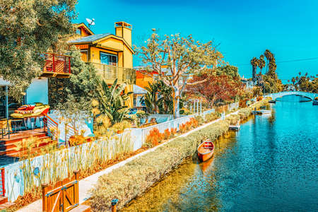 One of the most beautiful district of Los Angeles - is Venice. California, USA.