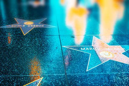 Los Angelos, California, USA - September 05, 2018: Hollywood Walk of Fame in Hollywood Boulevard. Marion Martin.