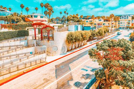 Santa Monica, California, USA - City views, Santa Monica streets - a suburb of Los Angeles.