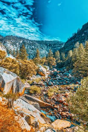 Magnificent national American natural park - Yosemite. California. USA.