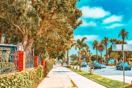 Santa Monica, California, USA - September 07, 2018: City views, Santa Monica streets - a suburb of Los Angeles. Editorial