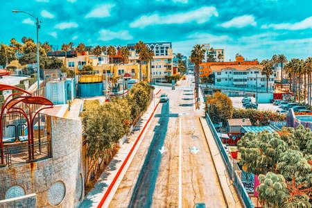 City views, Santa Monica streets - a suburb of Los Angeles.