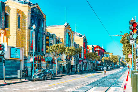 San Francisco, California, USA - September 10, 2018: Fisherman's Wharf is a neighborhood and popular tourist attraction in San Francisco.