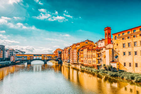 Ponte Vecchio is a bridge in Florence, located at the narrowest point of the Arno River, almost opposite the Uffizi Gallery.Italy.