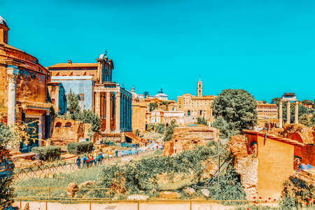 Archaeological and historical objects in Rome, united by the name - Roman Forum. Roman Forum, Temple of Romulus (Tempio del Divo Romolo).