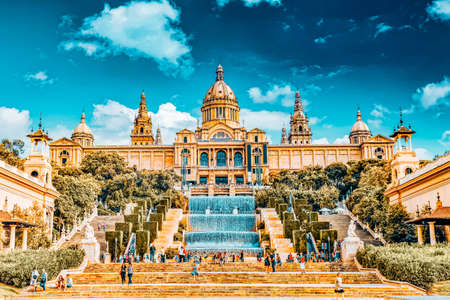 BARCELONA, SPAIN - SEPT 04: National Art Museum of Catalonia. Museum of Barcelona, has collections of Modern Art and the Museum of Art. September 04, 2014 National Museum in Barcelon. Spain. Editorial