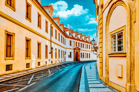Quarters and streets on Prague's Mala Strana(Lesser Town of Prague). District of the city of Prague, Czech Republic, and one of its most historic regions. Czech Republic.