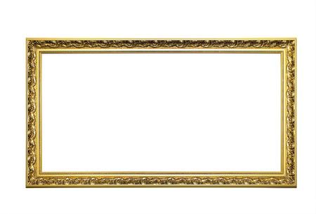 decorative: Golden cadre photo  Banque d'images