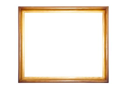 grecas: Un marco de madera aislado en el fondo blanco