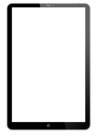 Black tablet- like on white background