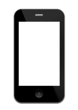 iphon: Mobile phone with blank screen like iphon isolated on white background
