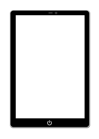 portability: tablet computer isolated on the white backgrounds