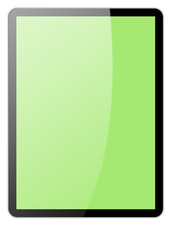 e book reader: tablet computer isolated on the white backgrounds
