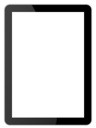blank tablet: Black tablet  Stock Photo
