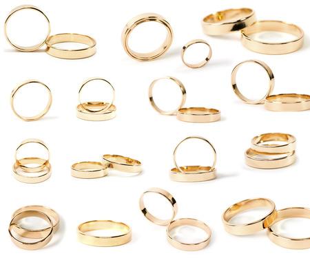 argollas matrimonio: los anillos de boda Foto de archivo