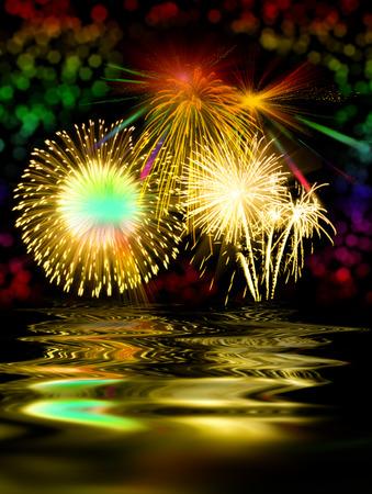 fires artificial: Fireworks