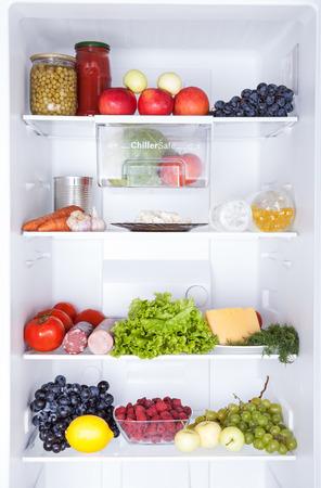 refrigerator: Refrigerator full of food