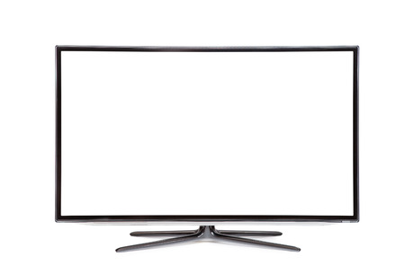 hdtv: monitor isolated on white