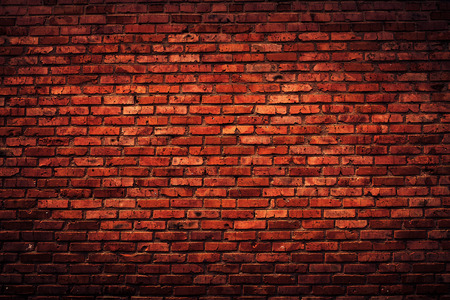 red wall: Old grunge brick wall background