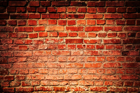 with holes: Old grunge brick wall background