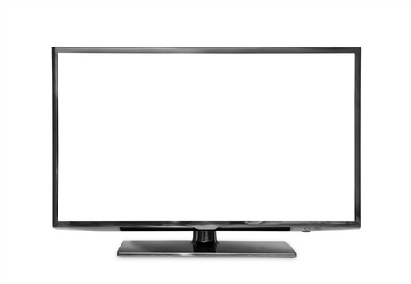 digital television: monitor isolated on white