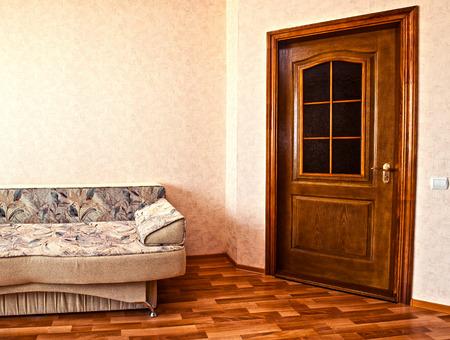 sofa in white room photo