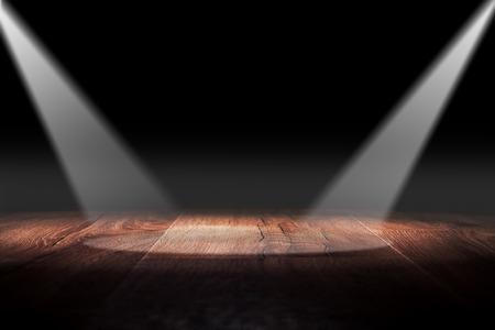 urban decay: Light on wooden floor in empty room