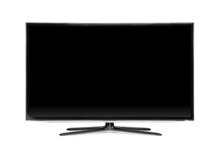 television: monitor isolated on white