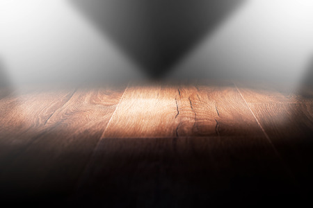 urban decay: Light on wooden floor in empty room