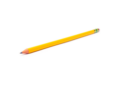 secretarial: Pencil isolated on pure white background