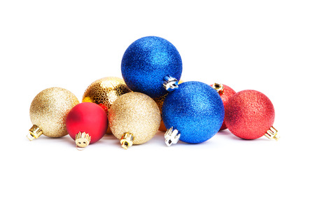 christmas balls isolated on a white background Фото со стока