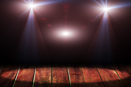 night club interior: Dark background with spotlights