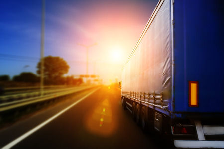 highway: Blurred road and car, speed motion background